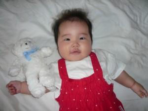 生後4ヶ月の娘