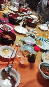 手巻き寿司・食べかけ…