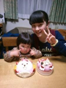 娘と姪の誕生日会