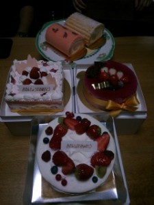 父の誕生日会