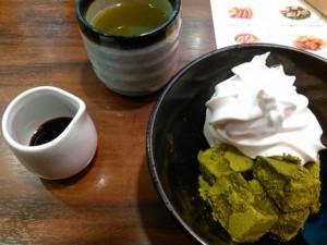わらび餅&ソフトクリーム